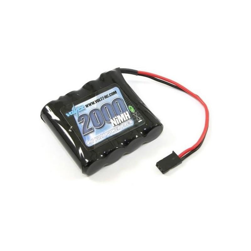 Bateria 4.8V 2000mAh Ni-MH Rx - Ficha Futaba Plana