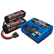 Traxxas Battery/charger Pack 2 x 6700mAh 4S