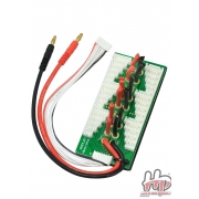 Emax Parallel Charging Board for 6 Packs - Bare Leads