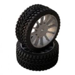 SP Racing Tires Sport Pre-Mounted Multi Spoke Grey Wheel (2un)